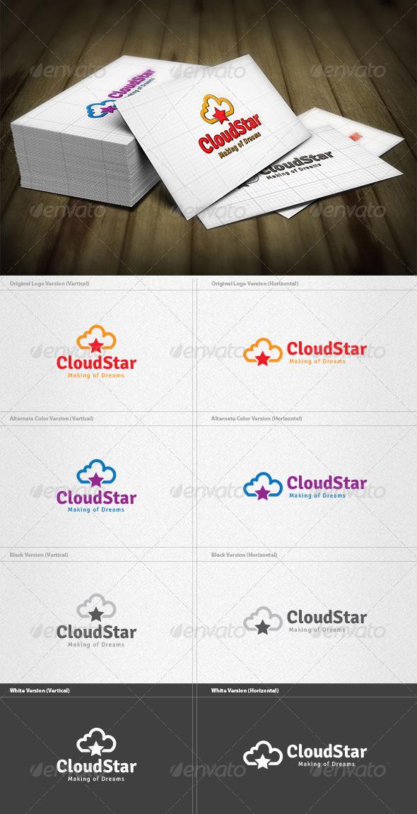 GraphicRiver Cloud Star Logo 4279712