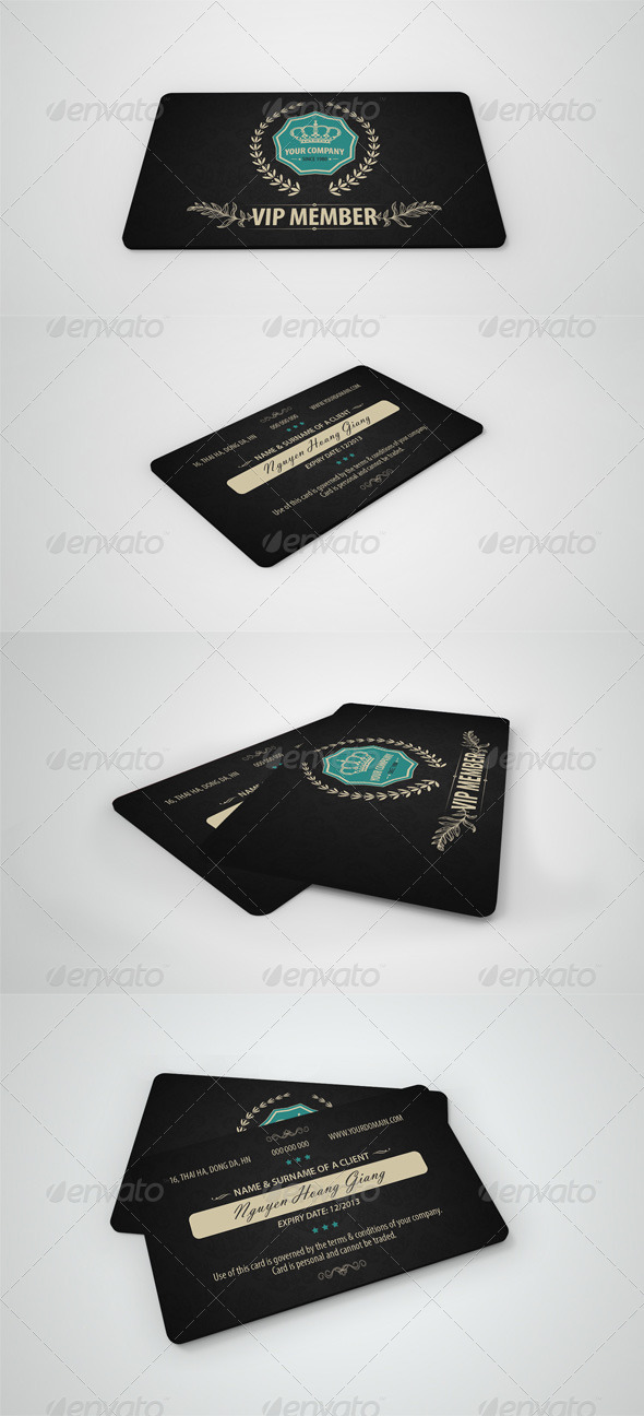 GraphicRiver Luxury Retro Vip Card 4097732