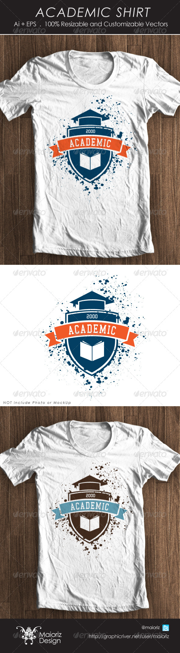 GraphicRiver Academic Tshirt 4280198