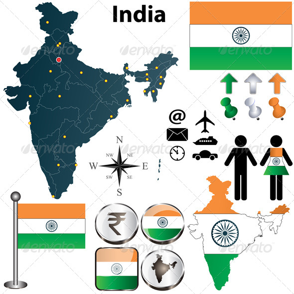 GraphicRiver Map of India 4280266