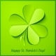 Green Paper Clover Patrick's Day Greeting Card - GraphicRiver Item for Sale