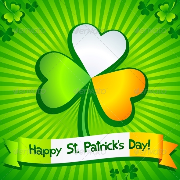 GraphicRiver Saint Patrick s Day Clover Greeting Card 4281632