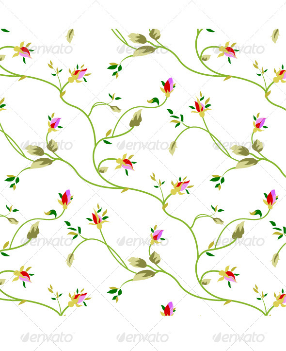 GraphicRiver Rose Seamless Pattern 4281663