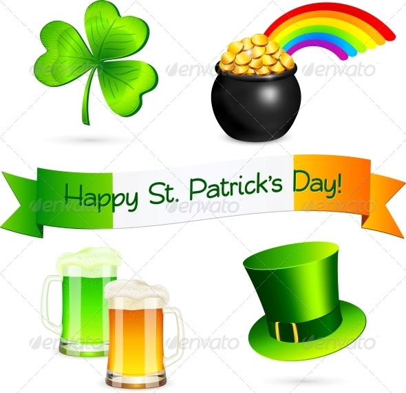 GraphicRiver Saint Patrick s Day Design Elements Set 4281689