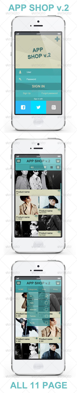 GraphicRiver App Shopping V.2 E Commerce UI 4272265