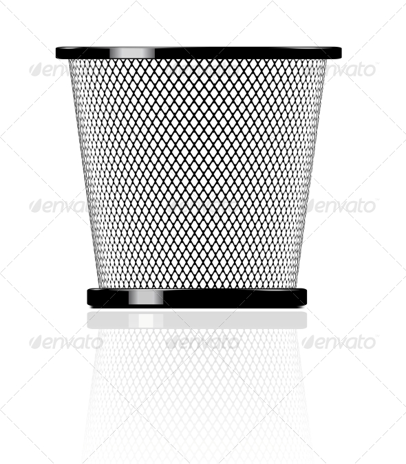GraphicRiver Realistic Glossy Trash Icon Illustration 4284999