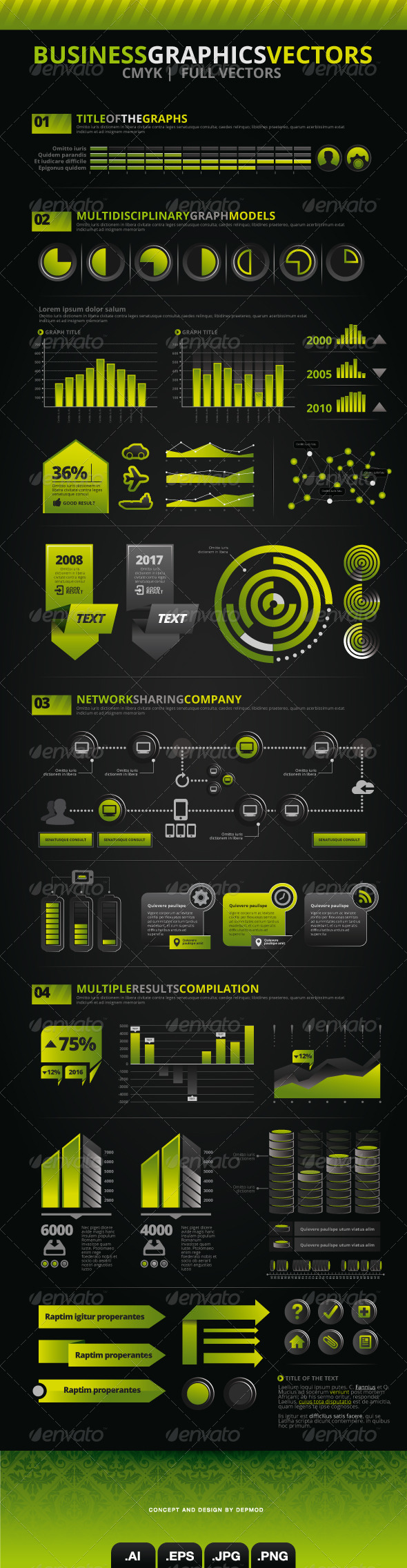 Business Graphics Vectors V.03 - Infographics