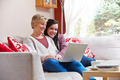 Mother and daughter on laptop - PhotoDune Item for Sale