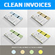 Clean Invoices Template - GraphicRiver Item for Sale