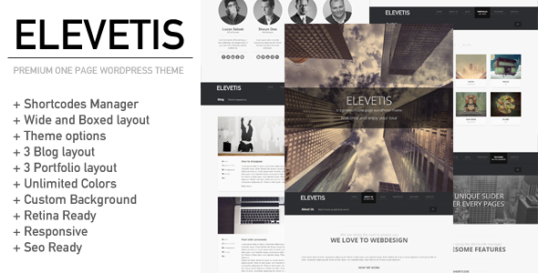 Elevetis - Premium One Page WordPress Theme