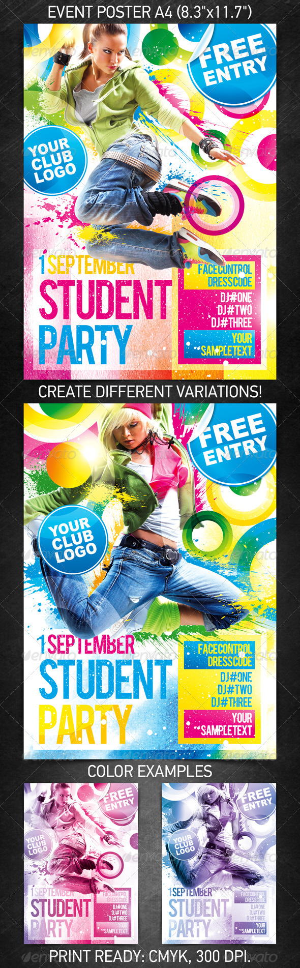 Student Party Poster - Clubs &amp; Parties Events