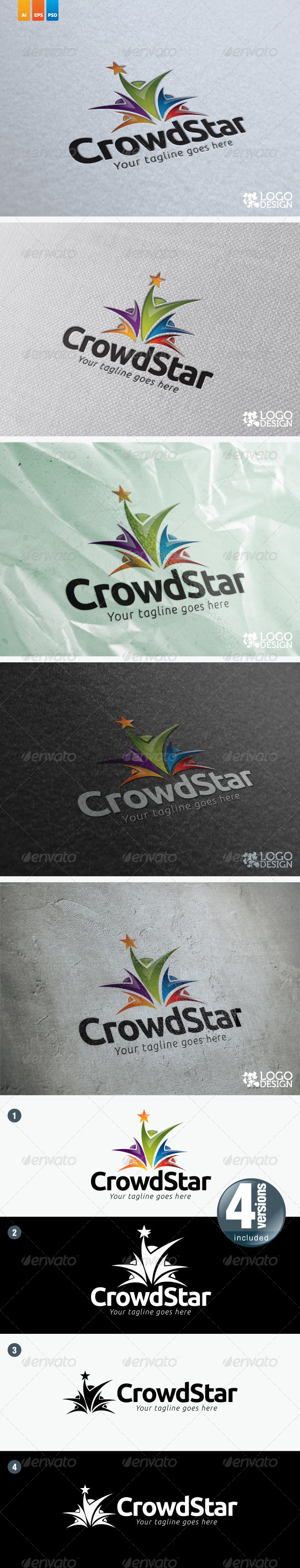 CrowdStar - Humans Logo Templates
