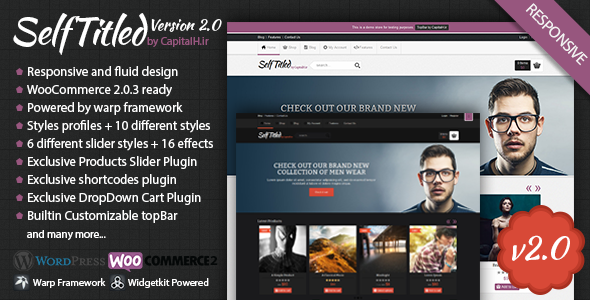 SelfTitled - Responsive eCommerce WordPress Theme - ThemeForest Item for Sale