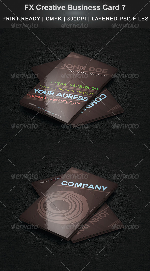 FX Creative Business Card 7 - Business Cards Print Templates