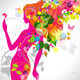 Fashion Floral Girl Vector Design - GraphicRiver Item for Sale