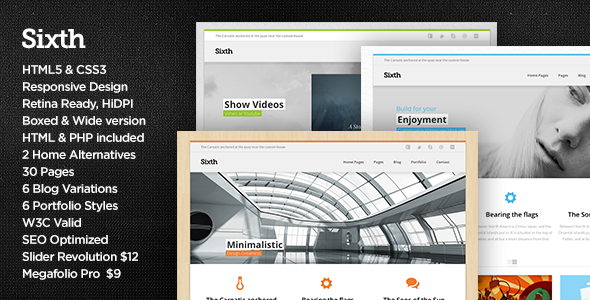 Sixth - Responsive Multipurpose HTML Template