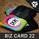 Business Card Design 22 - GraphicRiver Item for Sale