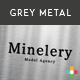5 Logo Mock Up -6- Grey Metal - GraphicRiver Item for Sale