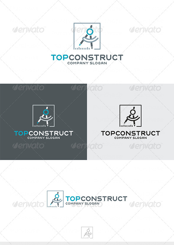 Top Construct Logo - Buildings Logo Templates