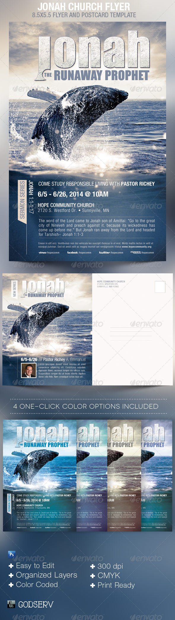 Jonah Church Flyer Template - Church Flyers