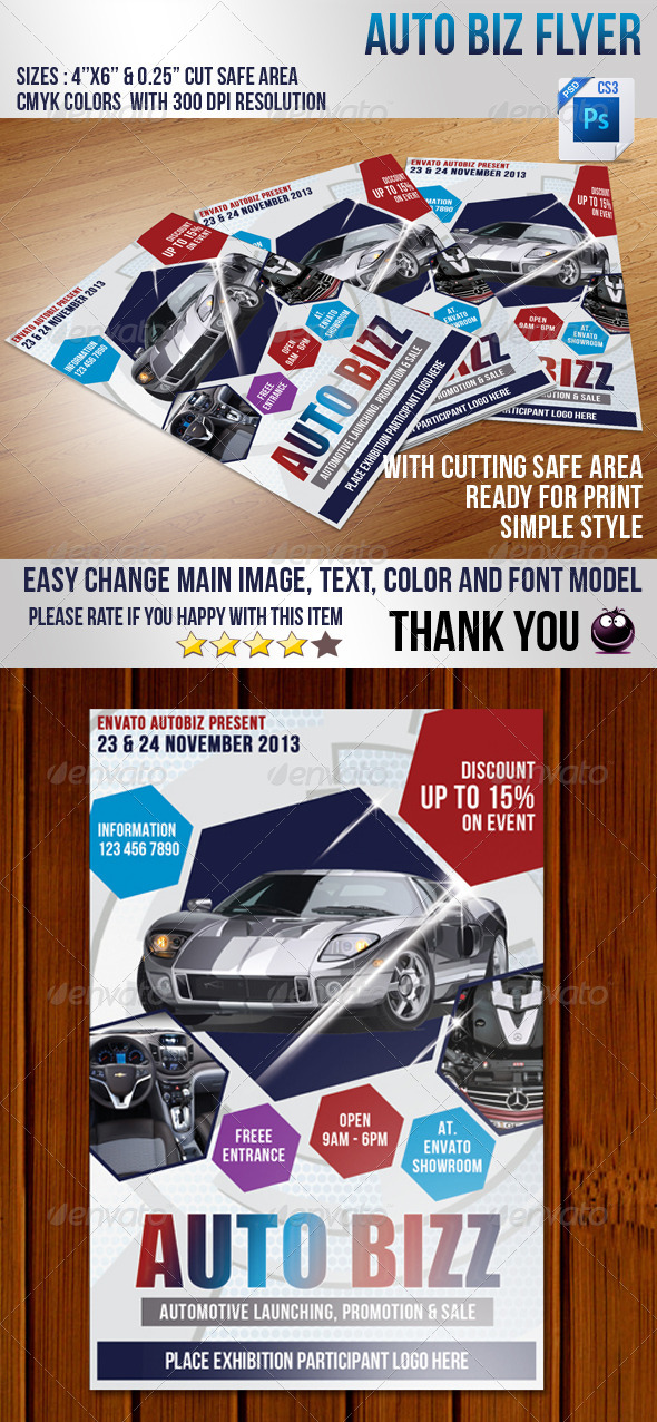 GraphicRiver Auto Biz Flyer 4106990
