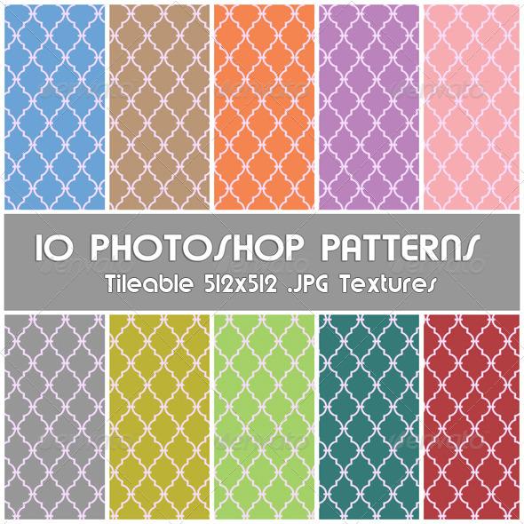 GraphicRiver 10 Photoshop Patterns Set 03 4289895