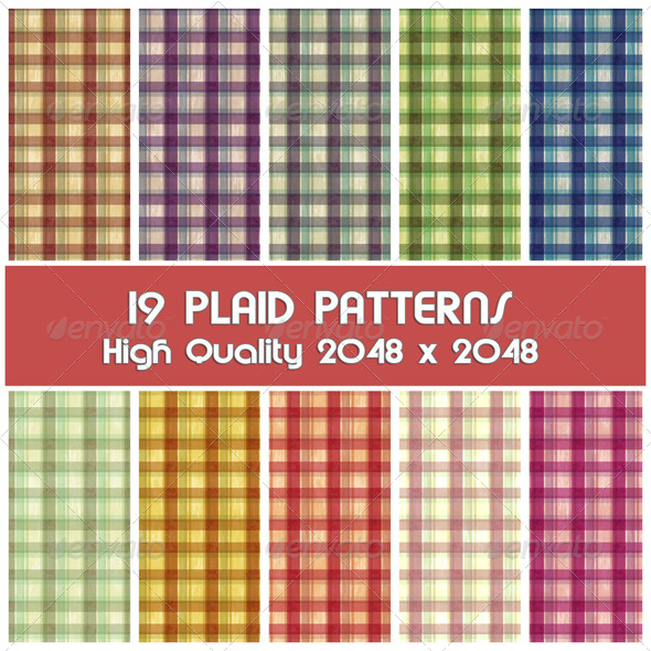 GraphicRiver 19 Plaid Photoshop Patterns 4289927