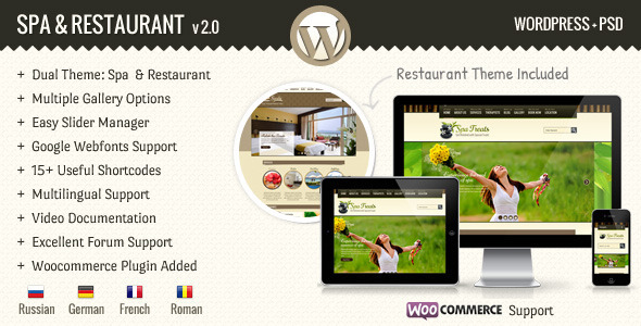 SPA Treats - Spa & Restaurant WooCommerce Theme - Health & Beauty Retail