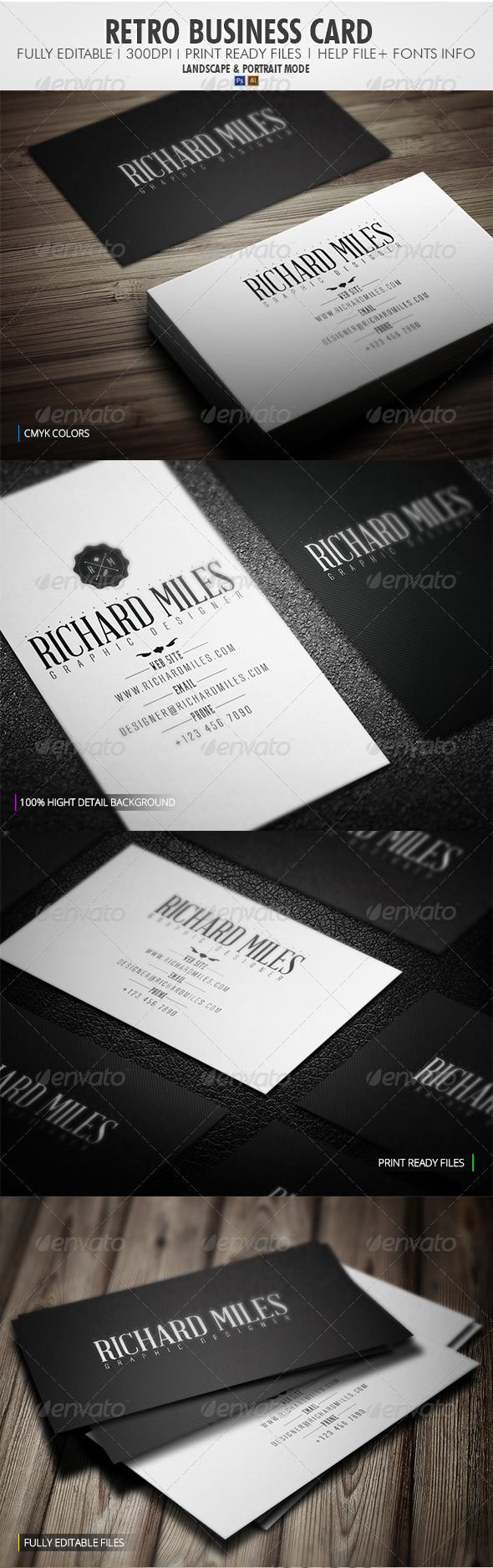 GraphicRiver Retro Business Card 4117119