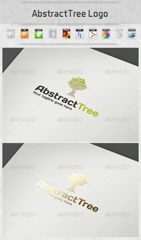GraphicRiver AbstractTree Logo 4290513