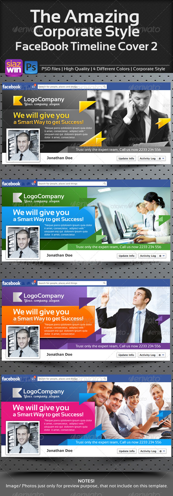 GraphicRiver The Amazing Corporate FB Timeline 02 4291399