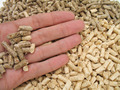 hand and bi-colour wood pellets - PhotoDune Item for Sale