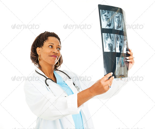 Checking Out the X-rays - Stock Photo - Images