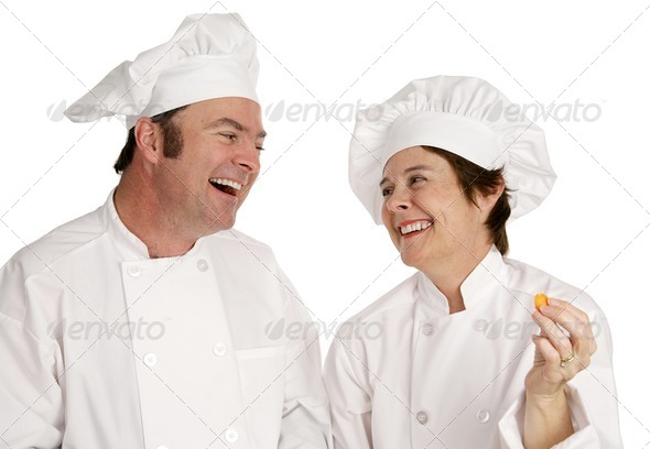 Chefs Having Fun - Stock Photo - Images