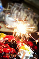 Firework on The Birthday Cake - PhotoDune Item for Sale