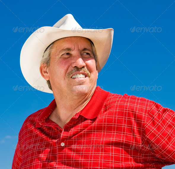 Confident Cowboy - Stock Photo - Images