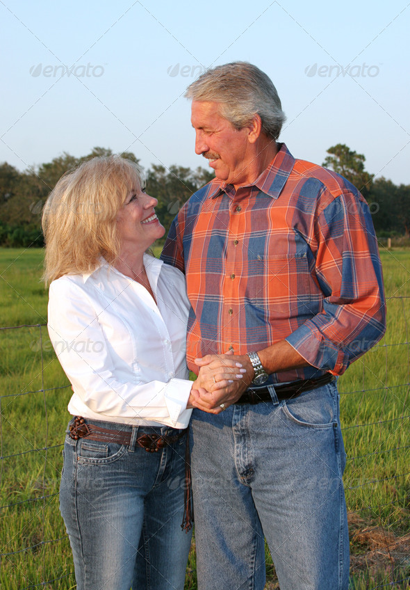 Country Couple Romantic - Stock Photo - Images