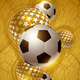 Soccer Ball Gold Abstract Design - GraphicRiver Item for Sale