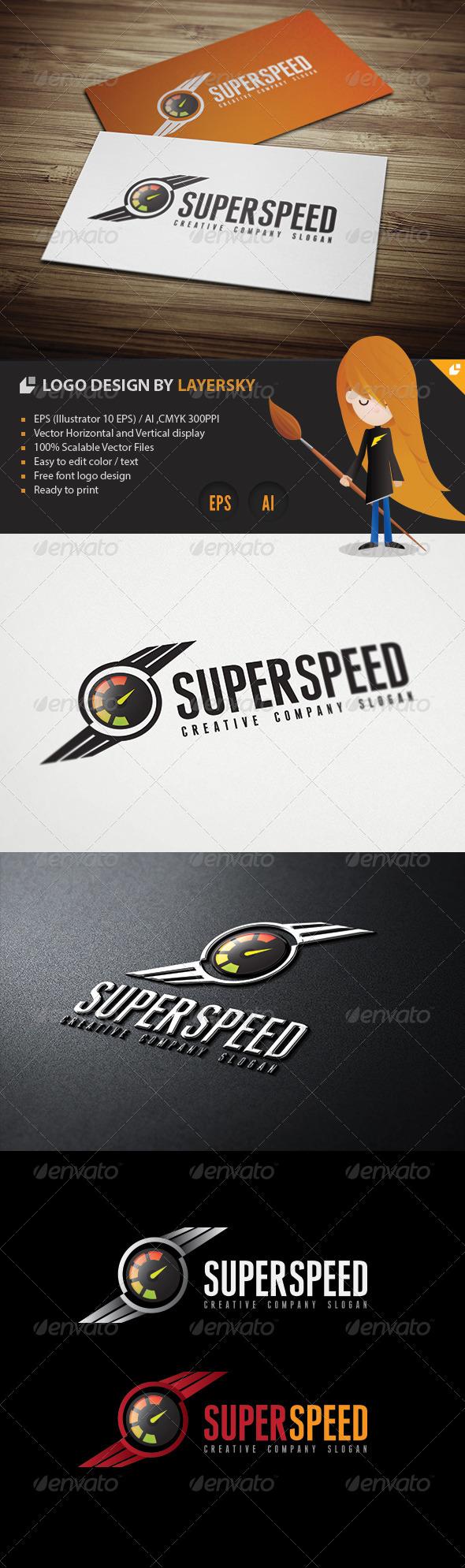 GraphicRiver Super Speed Logo 4294001