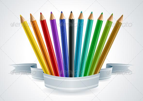 GraphicRiver Color Pencil Set Banner 4294350