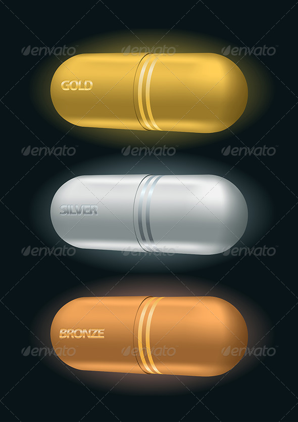 Pharmaceutical Capsule Awards - Health/Medicine Conceptual
