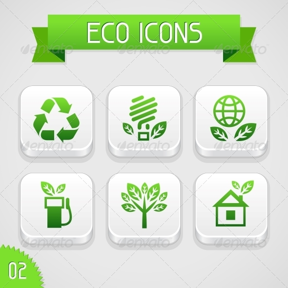 GraphicRiver Collection of Apps Icons with Eco Elements Set 2 4294832