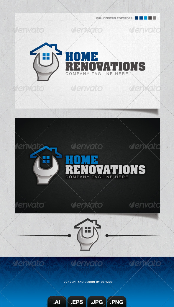 Home Renovations Logo - Buildings Logo Templates