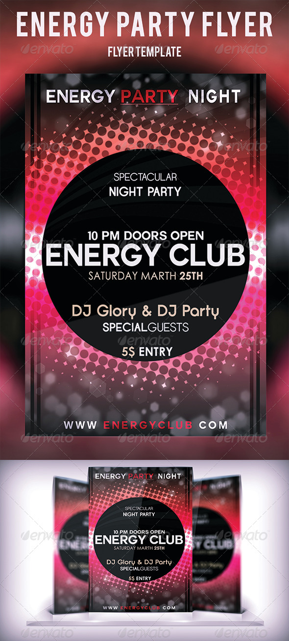 Energy Party Flyer - Flyers Print Templates