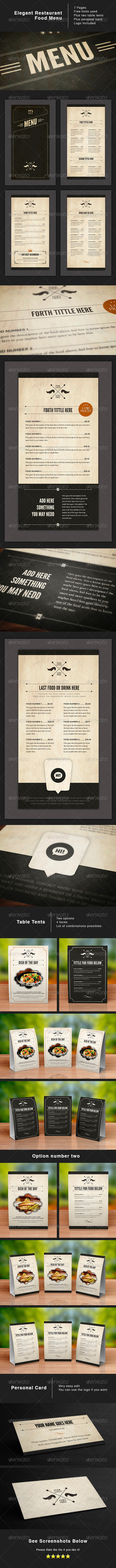GraphicRiver Design Food Stationery 4125081