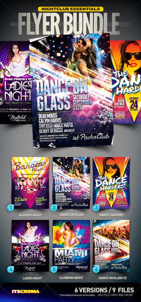 Nightclub Essentials Flyer Bundle | 001 - Clubs & Parties Events