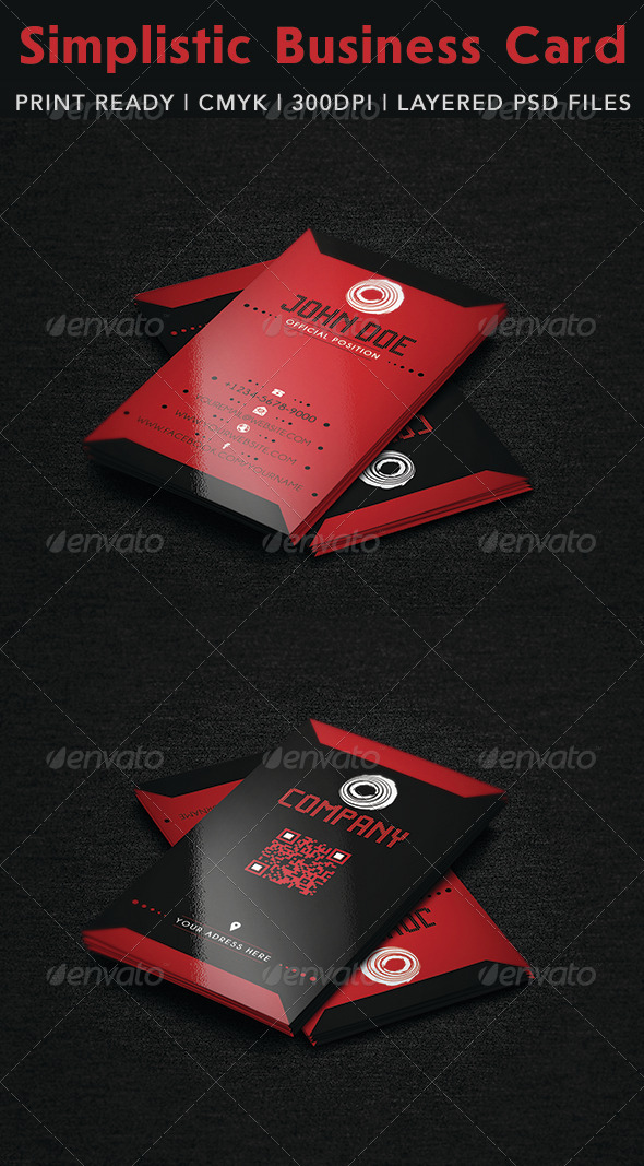 Simplistic Business Card - Business Cards Print Templates