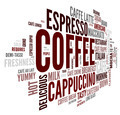 Coffee concept in word tag cloud - PhotoDune Item for Sale