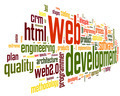 Web development concept in word tag cloud - PhotoDune Item for Sale