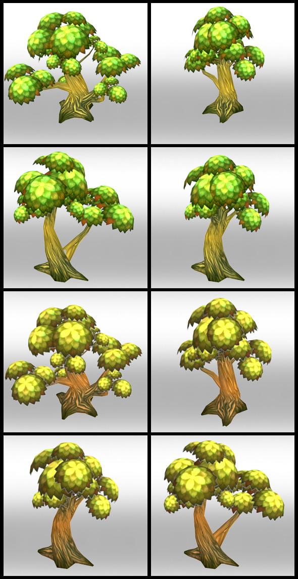 3DOcean Lowpoly Trees Toon pack 1 4298419